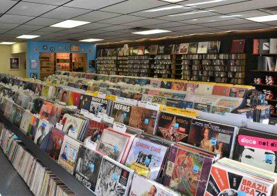 record store interior